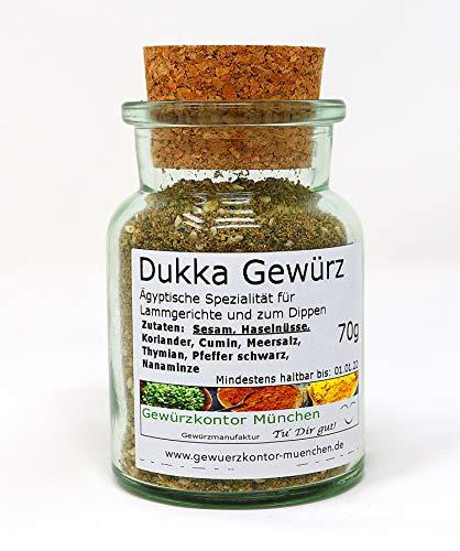 Dukkah, Dukka Gewürz im Glas 70g Gewürzkontor München