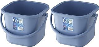 リス バケツ 角型 本体 ブルー 6.5L ベルク 6.5KB 2個セット
