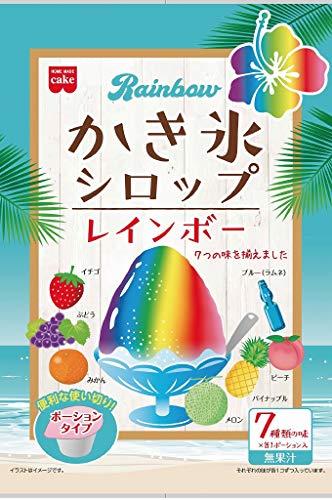 共立食品 レインボーかき氷シロップ21g×7まとめ買い(×6)