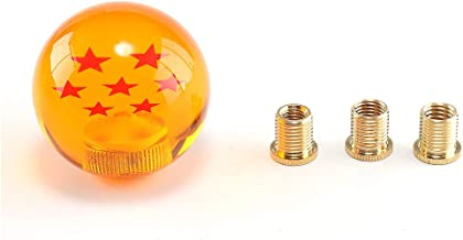 Top10 Racing Dragon Ball Z Star Manual Stick Shift Knob with Adapter Fits Most Cars 1-7 Stars 54MM (7 Star)