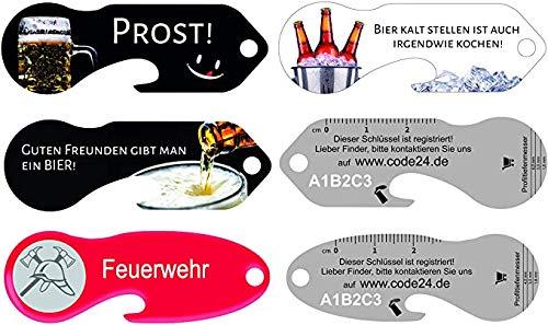 Einkaufswagenlöser Durstlöscher-Set 4 Schlüsselfund-Service und Flaschenöffner