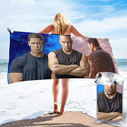 Artículos 3D Fast & Furious Johnny Tran Vin Diesel Toallas de baño Sábanas de baño Playa arena Cómodo Unisex Impresión 3D Pascua