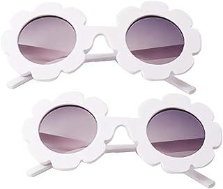 freneci - freneci 2x Gafas de Sol Blancas para Bebés, Niños, Niñas, Niños Pequeños, Protección UV400