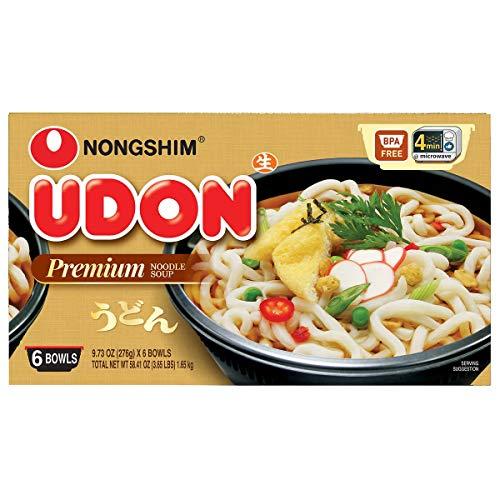 Nongshim Udon Premium Noodle Soup Original: 6 Bowls of 9.73 Oz by Nongshim