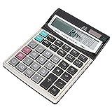 Vipxyc Calcolatrice, Calcolatrice Display a 16 Bit con Pulsanti Grandi, CT-9616 Calcolatrice da Tavolo con Funzione Standard ABS a Doppia Alimentazione