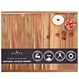Premium Acacia Wood Cutting And Pastry Board 28x22 in - Extra Large Non-Stick Board for Easy Chopping and Food Preparation - Perfect For Your Fresh Homemade Bread, Pasta, Or Pizza