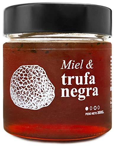 Miel con Trufa Negra - 100{25b7a3effaafd72e815fc61b5caa1a6adc39fa01e79986bd5de47b5dbd7ecde4} Natural Pura de Abeja, Cruda, 300gr - Origen: El Bierzo, España