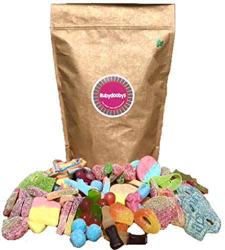 Rubydoobys Vegan Sweets Pouch - Huge Variety of Quality Pick & Mix Vegan and Vegetarian Friendly Sweets in Eco Packaging