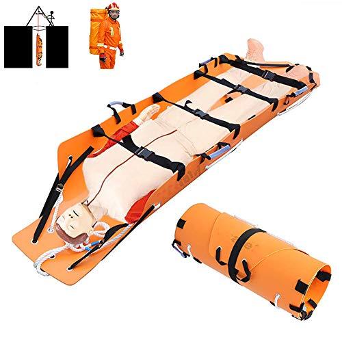 DNNAL Tragbare Transportbahre, Multifunktionsrolle Soft Stretcher Fire Rescue Erste-Hilfe-Rückwand mit Sicherheitsgurt, einfach zu Falten