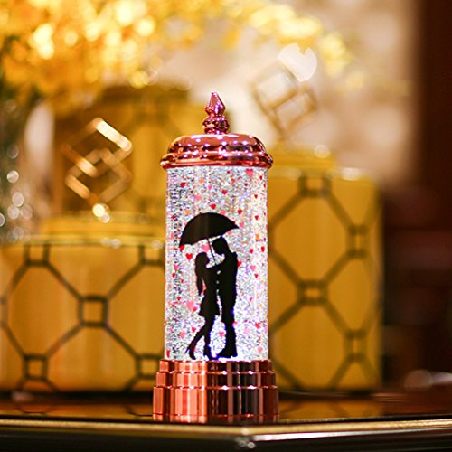 LEDMOMO Colorful Candle LED Night Light Battery Operated USB Charging Candle Lamp For Home Party Decoration Valentine's Day Gift(Red)