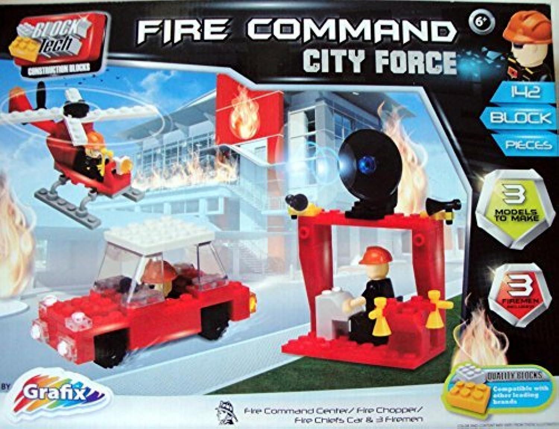 venta mundialmente famosa en línea Fire Command City Force Interlocking 142 142 142 Block set by Block Tech  respuestas rápidas