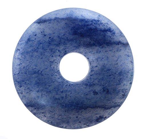 Lebensquelle Plus Blauquarz Edelstein Donut Ø 30 mm Anhänger