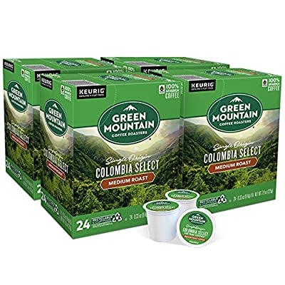 Green Mountain Coffee Roasters Colombia Select, Single-Serve Keurig K-Cup Pods, Medium Roast Coffee, 96 Count