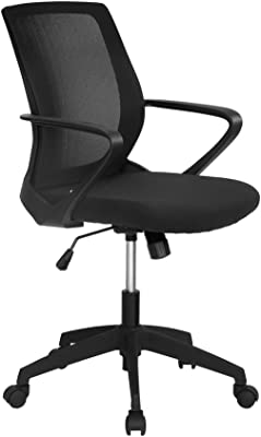 Nilkamal Scoop Mid Back Office Chair Black Amazon In Home Kitchen
