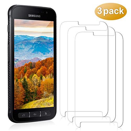 YIEASY 3 Stück PanzerglasFolie Schutzfolie für Samsung Galaxy XCover 4 9H Härte Anti-Fingerabdruck Ultra-dünner HD Frei von Kratzern Fingabdrücken und Öl Displayschutzfolie für XCover 4 Transparent