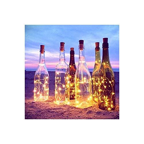 Luces de la secuencia Botella 1M 10LEDs lámpara de luces de cadena de cristal Vino Luces de hadas tapón del corcho decoración en forma de barra de luces de Navidad la celebración de días