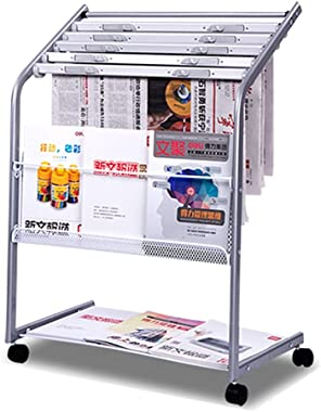Wrought Iron Newspaper Rack, Office Promotional Materials Cabinet, Multi-Layer Floor Display Rack, Children's Document Di