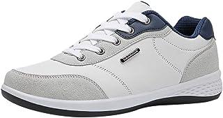 LINSINCH Chaussures de Securite Homme Baskets de Course à Pied en Cuir Casuals pour Hommes, Sport, Baskets Respirantes Boo...
