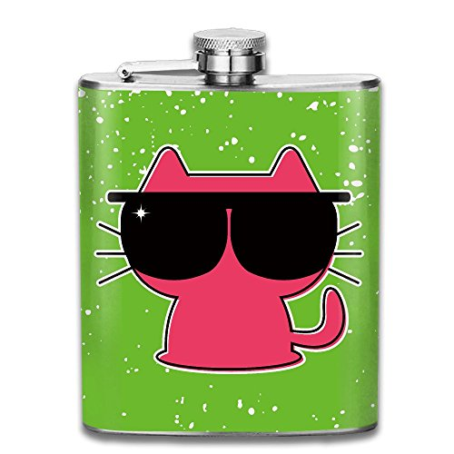 SmallHan Hipster Baby Animal Nursery Children Design Wall Hanging For Bedroom Living Room Lime Green Pink Black Good Quality 304 Stainless Steel Flask 7oz