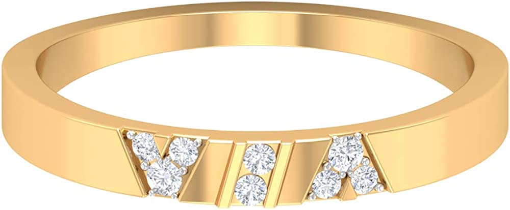 Rosec Popular brand in the world Jewels – Wedding Band Max 77% OFF Ring R Diamond Gold with HI-SI