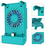 KIWIHOME Charger Dock for Switch and Switch Lite, Portable Charging Stand Cooling Station with Cooling Fan and Kickstand for Switch and Switch Lite Accessories (Turquoise)
