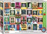 EuroGraphics- Mediterranean Windows 1000-Piece Puzzle 1000 Piezas. (6000-5350)
