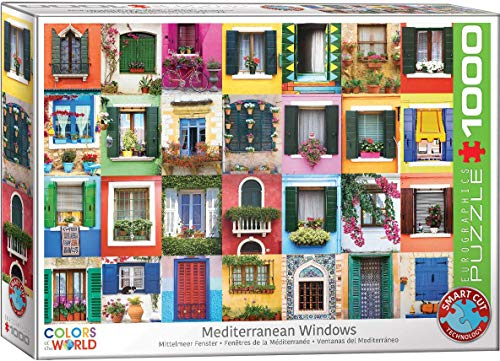 EuroGraphics 6000–5350 Mediterrane Windows 1000 Teile Puzzle