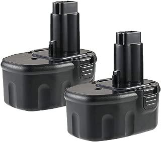 2 Pack DC9091 Battery 2.0ah Replacement for Dewalt 14.4V Battery Ni-CD XRP DW9094 DW9091 DE9038 DE9092 DE9094 DE9502