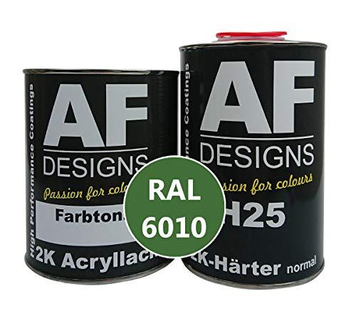 Alex Flittner Designs 2K Acryl Lack Autolack 4,5 kg Set RAL 6010 GRASGRUEN glänzend incl. Härter
