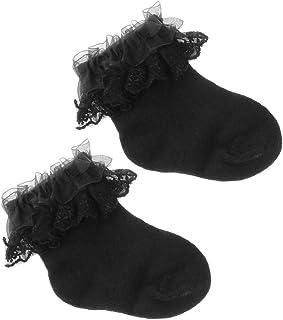 RK-HYTQWR, RK-HYTQWR Calcetines de algodón para bebé recién Nacido Calcetines de Princesa de Encaje Peinado para niñas Calcetines de bebé Infantil, Calcetines de Princesa de Encaje Blanco, Blanco