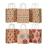 Cabilock Weihnachts Kraft Geschenktaschen Geschenke für Weihnachten Papiertaschen für Weihnachten Weihnachtsgeschenke Goody Bags für Weihnachtsgeschenke Geschenkverpackung