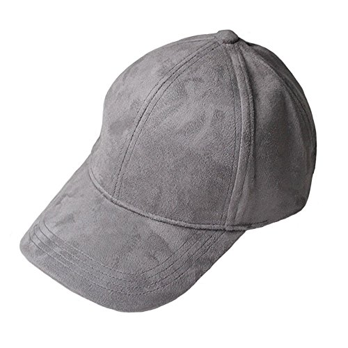 VANCOL Soft Faux Leather Suede Hat Baseball Cap (Dark Grey)