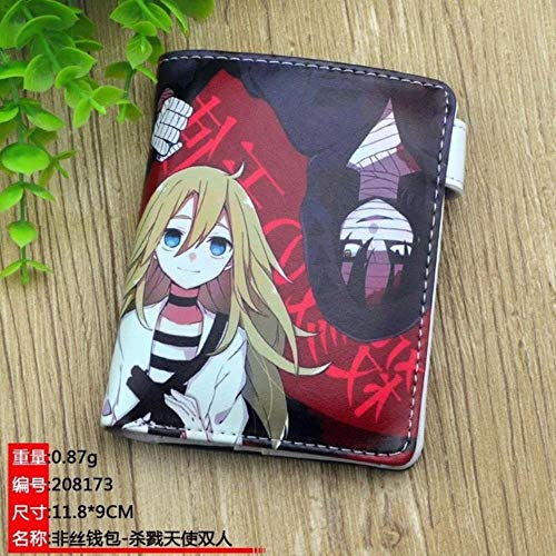 WYTX Cartera Dragon Ball Anime Wallet Son Goku Short Purse Cartoon Money Bag, Ángeles de la Muerte