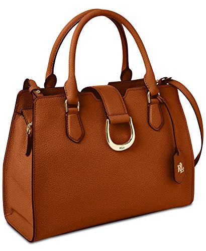 Ralph Lauren Lauren Kenton Leather Satchel (Tan)