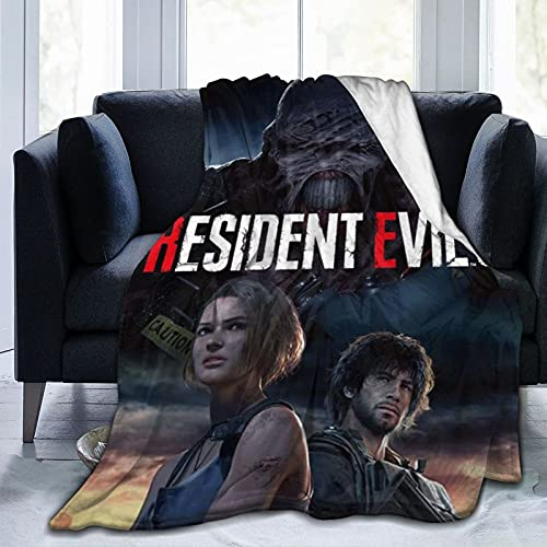 Lady dimitrescu The Final Chapter Infinity Darkness TPS Game 3D Animated Filme Zombie Statue Resi-dent Evil Cozy Fleece Decke Ultra Weich und Flauschig Sofa Stuhl Cover 152,4 x 127 cm