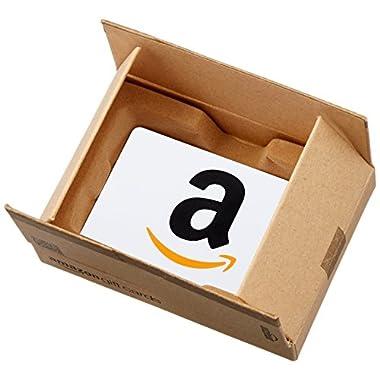 Amazon.com Gift Card in a Mini Amazon Shipping Box (Classic White Card Design)