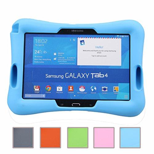NEWSTYLE Samsung Galaxy Tab 4 10.1 Kinderfreundliche Silikon Hülle Schutzhülle Tasche Case für Samsung Tab 4 SM-T530/T531/T535 (10,1 Zoll) - Blau