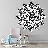 yaonuli Adesivo murale Mandala Arte Soggiorno Yoga Adesivo da Parete in Vinile Home Interior Camera da Letto Comodino Adesivo 42x42cm