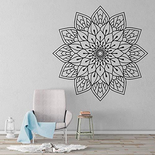 Pegatinas de pared con diseño de mandala, pegatinas de pared de vinilo de yoga para sala de estar, pegatinas de pared para decoración interior del hogar Mural A3 42X42 CM