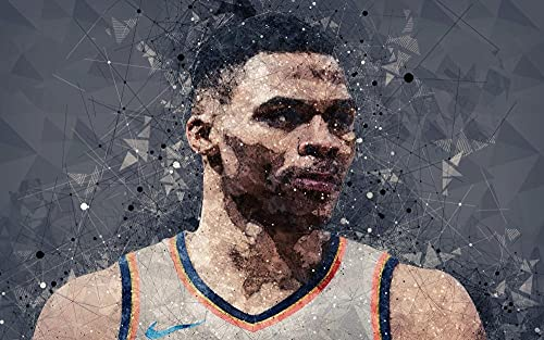 KJHJKH Rompecabezas Madera 1000 Comprimidos,Superestrella del Baloncesto de la NBA de Westbrook,Juegos de Rompecabezas para la Familia,Juguete De Regalo Ideal,Art Decoración (75 x 50 CM)