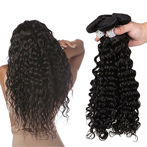 Hannah Queen Hair Brazilian Curly Hair Weave 3 Bundles (20 22 24,300g) Virgin Kinky Curly Human Hair Weave 8A 100% Unprocessed Hair Weft Extensions Natural Black Color