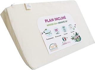 Modulit - Plan incliné - Anti reflux bebe - 100% Coton Bio pour lit Bébé 60x120, Déhoussable, Fabrication Française
