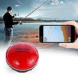AKTET Transductor de Profundidad portátil Sonar Fish Finder inalámbrico, Aplicaciones en iOS o Android,Red