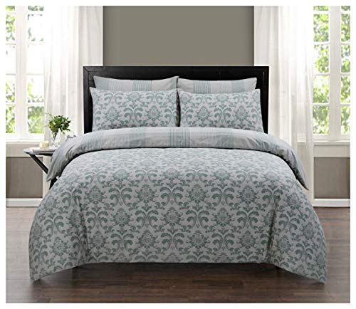 GoldStar Istambul Single Floral Reversible Duvet Quilt Cover Set 100% Pure Cotton