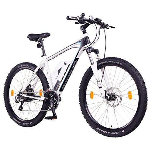 "Ncm Prague Plus Bicicleta Eléctrica de Montaña, 250W, Batería 36V 14Ah 504Wh (Blanco 27,5\"")"