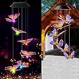Luces del Campanas de Viento, Solar Energía Wind Chime Light, Iluminación Colgante, Campanilla de Viento Solar Decoración para Terraza, Jardín, Fiesta, árbol
