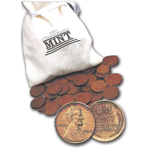 1 Full Pound of Wheat Pennies Assortment - 148 Unsearched Coins