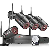 Wireless Security Camera System, ANRAN 4CH 1080P NVR 4Pcs 1080P Outdoor/Indoor WiFi Home Surveillance IP Cameras with Motion Detection,Email Alert,Night Vision,Remote Monitor, Built in 1TB Hard Drive