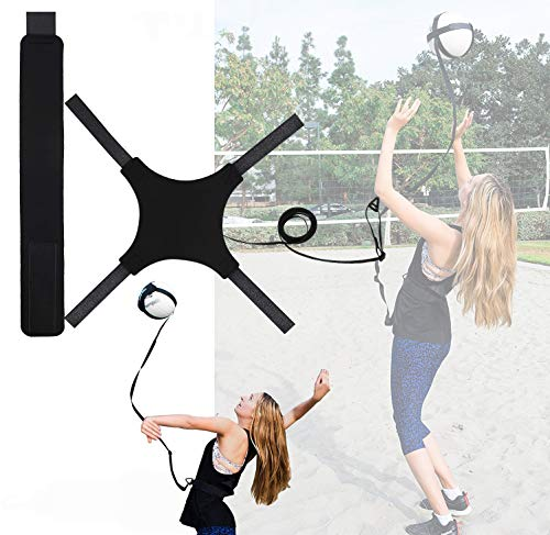 FSXTMMM Volleyball Training Aid Equipment, Single Solo Practice, Practice Overhand Serve, Spike, Arm Swings, Hitting, Outdoor Training for Serving and Arm Swing Serve Trainer for Beginners