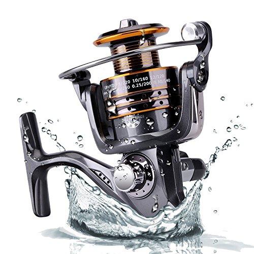 Plusinno Pesca Spinning Carretes Agua dulce Agua salada...